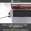 MacBook Pro マルチハブUSB Type C hub mac ハブ HyperDrive7in2 DUO USB-C Hub充電可能 40Gb/s 4K高画質 PD機能 HDMI変換アダプターマックブック USB 3.0ポート USB-Cポート Micro SD/SDカード Mac Book Pro 13/15HP15580 10P 4589753045804