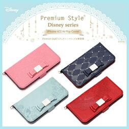 ディズニーiPhone6s/6フリップケースフリップカバーPremiumStyleディズニーシリーズPGDFP113MNE-PGDFP116WHiPhone6siPhone6手帳ケース手帳型ケースレザー革disneyアリエルミニーアリス白雪姫