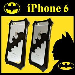 バットマンiPhone6バンパーケースBTM43BKBK-BTM43YEBKケースカバーiphone6アイフォン4.7インチブラックイエロー送料無料10pグルマンディーズ4536219825166