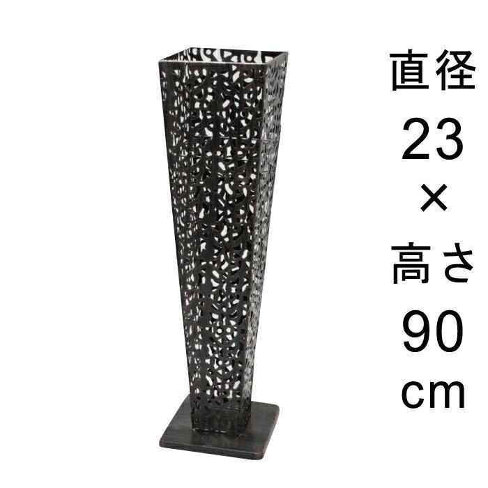 デザイン アイアン フラワースタンド〔048534〕 角型 アンティーク ブラック 高さ90cm ◆写真4-5枚目の内側容器は別売◆