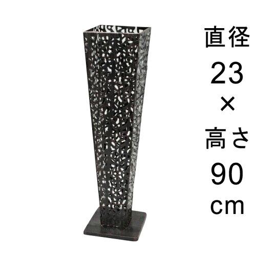 デザイン アイアン フラワースタンド〔048534〕 角型 アンティーク ブラック 高さ90cm ◆写真4-5枚...
