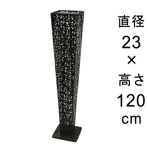 デザイン アイアン フラワースタンド 〔048535〕 角型 アンティーク ブラック 高さ120cm ◆写真4-5...