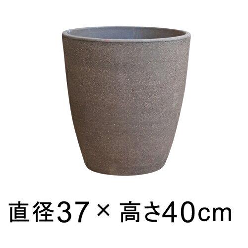シンプル丸深型 こげ茶 12号 37cm 植木鉢 おしゃれ 鉢カバー 10号