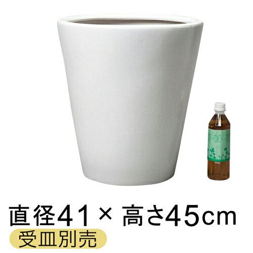 ツルツルM丸深型 陶器鉢 白 L 41cm〔受...