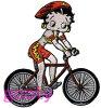 ベティー(ベティ)ブープbettyboop刺繍ワッペンサテンアップリケ自転車サイクリング【楽ギフ_包装】