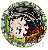 ベティー(ベティ)ブープbettyboop刺繍ワッペンサテンアップリケラウンドバイカーベテイー