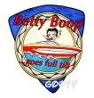ベティー(ベティ)ブープbettyboop刺繍ワッペンサテンアップリケセイリングモーターボートbettyboop...goesfulltilt!