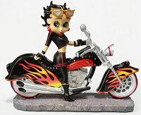 ベティー(ベティ)ブープBETTYBOOPCHOPPERBorntoRideCollectionFIREUPTHEBOOP置物フィギュアバイカーベティバイクオートバイ