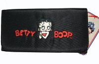 ベティー(ベティ)ブープBETTYBOOP長財布財布ベティーブープつるっとした布製刺繍