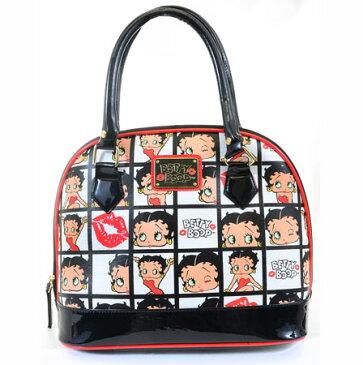 ベティー(ベティ)ブープ ブガッティー型バッグサッチェルバッグ 通勤バッグに最適おしゃれで可愛くって 大人っぽい使いやすい!Betty Boop Face Kisses Dome Bag