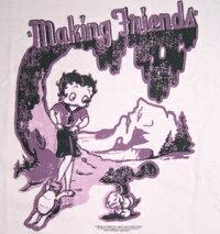 ベティー(ベティ)ブープbettyboop半袖ピタTシャツレディースサイズMakingFriends半袖ピンクベティーピタTM/Lサイズ