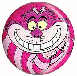不思議の国のアリスCheshireCatチシャ猫ピンク缶バッチloungeflyラウンジフライ【楽ギフ_包装】
