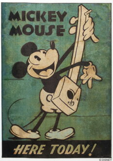 米奇老鼠米奇老鼠米奇音樂抹布吉他米奇音樂地毯 100 × 140 釐米