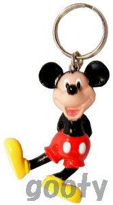 ミッキーマウス キーホルダーmickey mouse キーチェーン製造中止品 背中で手を組んでるのアメリカより直輸入