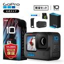 GoPro HERO10 Black + 予備バッテリー + 認定SDカード(64GB) + サイドドア(充電口付) + ステッカー 【GoPro公式限定】・・・