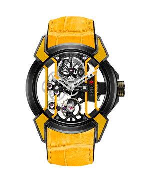 ジェイコブ エピックX 550.100.21.YR.PY イエロー 腕時計 メンズ 手巻き レーシング TI スケルトン JACOB&CO EPIC X スケルトン