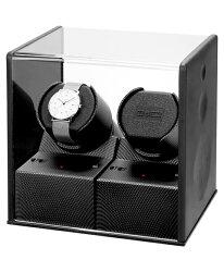 ボクシーデザインウォッチワインダーP02CC-BKアダプター付BOXYDesign