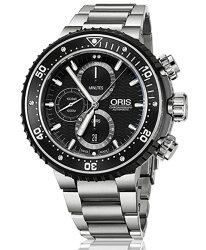 オリスプロダイバークロノグラフ77477277154-Set腕時計メンズ自動巻1000メートル防水OrisProdiverChronograph