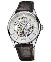 オリスアートリエスケルトン73477214051DBR(カーフ/ブラウン)腕時計メンズ自動巻OrisArtelierSkeleton