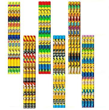 ミニオンズ 4本鉛筆セット 25個入【景品 子供 おもちゃ 縁日 お祭り 子供会 イベント 鉛筆 文房具】