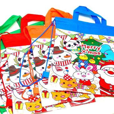 クリスマス2wayバック 12個入【景品 子供 おもちゃ クリスマス 子供会 イベント レッスンバック バック】