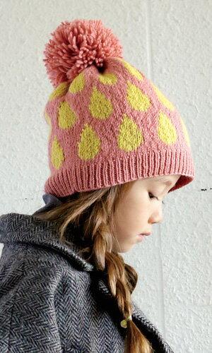 作品♪214w-22ドロップ模様の帽子