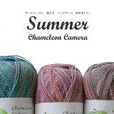\P10倍/【830】Chameleon Camera Summer(カメレオン カメラ サマー)[綿(コットン)45%毛(防縮ウール)40%ナイロン15% 合細 95-100g玉巻(約380m) 全5色