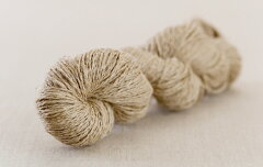 毛糸ピエロ♪ R105 麻(リネン)100% (草木染・手染め向け 生成り糸)