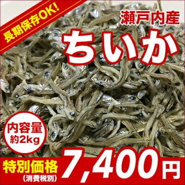 新鮮!!!瀬戸内産ちいか(ちりめんとかえりの中間サイズ)・煮干・たべるいりこ・2kg
