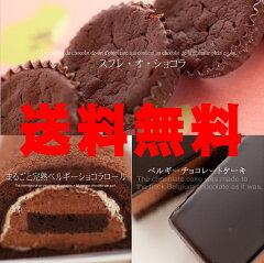 まるごとベルギーチョコづくし!<ロール&スフレ&チョコムース> チョコ好きにはたまらない極...