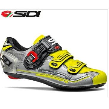【送料無料】SIDI シディ ジェニウス7 ロードサイクルシューズ スチール/シルバー/イエロー