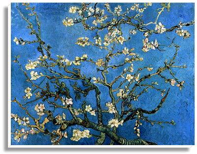 ゴッホ・「アーモンドの花樹」プリキャンバス複製画・ギャラリーラップ仕上げ(F6サイズ)