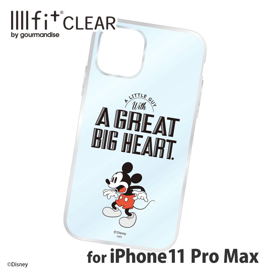 ディズニーキャラクター/IIIIfit(clear)iPhone11ProMax対応ケース