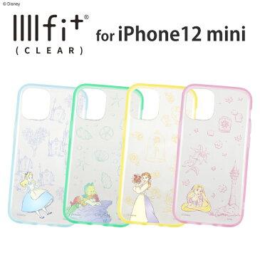 ディズニーキャラクター/IIIIfit Clear iPhone12 mini対応ケース