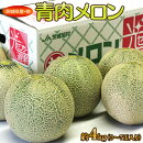 《送料無料》茨城県産・他『青肉メロン』3〜7玉約4kg【同梱不可】○