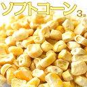 コーン とうもろこし トウモロコシ 送料無料 北海道 取り寄せ 美瑛産とうもろこしのフリーズドライ ソフトコーン 3袋 (1袋あたり25g) 常温 ネコポス 1