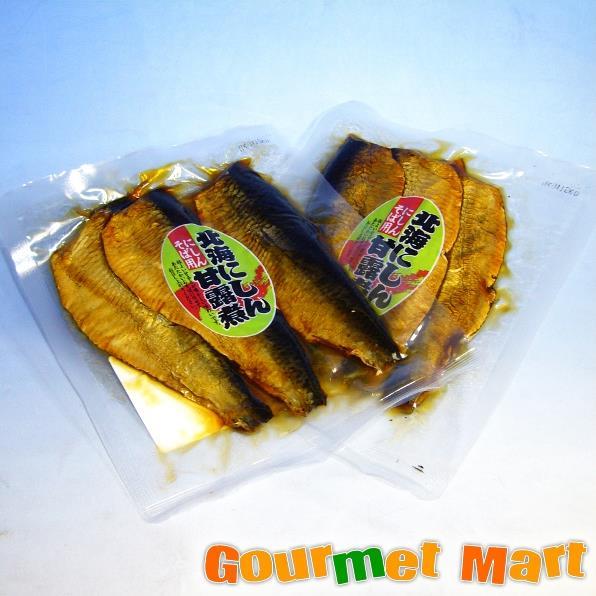 【ゆうパケット限定/送料込】ご飯のお供 北海にしん甘露煮 にしんそば用2個セット