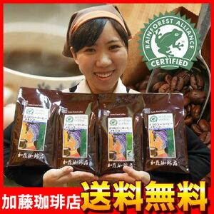 熱帯雨林保護RA認証珈琲豆RAメキシコ珈琲2kg入大入り福袋(2セットでRM付)(メキ×4)