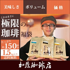 6時間限定販売極限の珈琲福袋(Qエル・Qニカ・Qコス /各500) グルメコーヒー豆専門加藤珈琲店