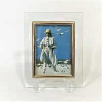 ガラスフレーム フォトフレーム ガラス製 L判 透明 クリア 卓上 写真額 写真立て スタンド付き