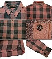 FULLCOUNT(フルカウント)25thOriginalBuffaloCheckNelShirts【25THANNIVERSARYITEM】4980EX-1「SmokeyPink×AshBrown」FL-4980EX-1メンズアメカジ男性長袖ネルシャツワークシャツ日本製国産