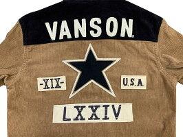 """VANSON(バンソン)""""ワンスター""""細コールワークシャツNVSL-906-19AW2019年生産「P」メンズアメカジ男性長袖シャツ"""