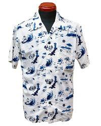 桃太郎ジーンズ【06-091】オリジナルプリントアロハシャツ06-091-20SS