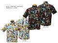 "SunSurf(サンサーフ)MASKEDMARVEL(マスクドマーベル)HawaiianShirt(アロハ)半袖コットンアロハボタンダウンタイプ""MENEHUNEMAGIC""SS-37658メンズアメカジ男性半袖アロハ日本製国産"