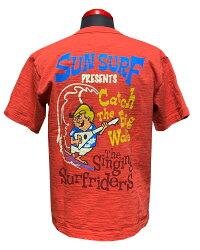 "SunSurf(サンサーフ)THESINGINGSURFRIDERSShortsleevet-shirt""CATCHTHEBIGWAVE""SS78792-21SS"
