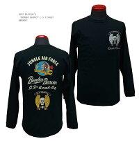 """BUZZRICKSON'Sバズリクソンズ""""BOMBERBARONS""""長袖Tシャツ2019年秋モデルBR68387-19AWメンズアメカジ男性長袖Tシャツ"""