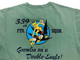 "BUZZRICKSON'Sバズリクソンズ""339thFTR.SQ.""Shortsleevet-shirtBR78781-21SS2021年モデル【クリックポスト対応商品(メール便(日本郵便))】"