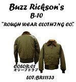 "BUZZ RICKSON'SバズリクソンズB-10""ROUGH WEAR CLOTHING CO.""Jacket,Frying,IntermediateBR11133フライトジャケット ミリタリー メンズ 男性 新品「NC」"