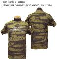 """BUZZRICKSON'SバズリクソンズTIEDYECAMOUFLAGE""""GREENBERETS""""半袖Tシャツ2017年モデルBR77699メンズアメカジ男性半袖Tシャツ"""