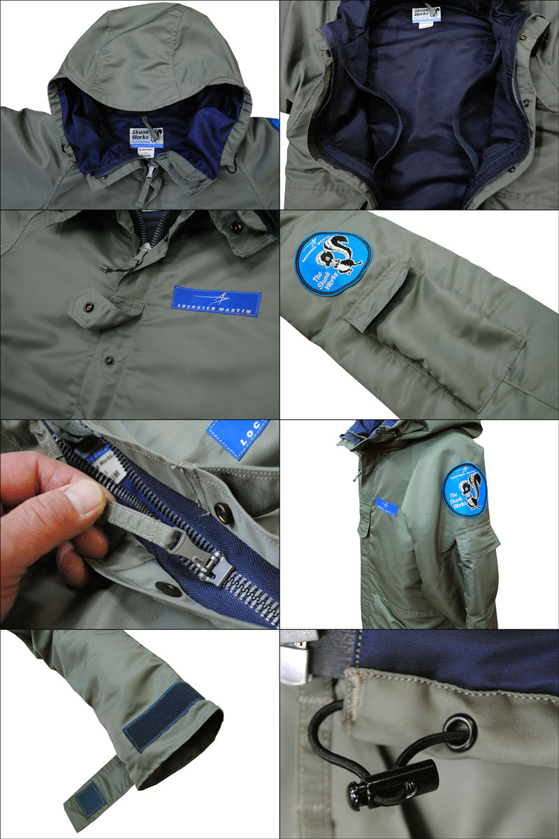 """BUZZ RICKSON'S バズリクソンズLOCKHEED MARTIN SKUNK WORKSEXTENDED COLD WEATHER CLOTHING SYSTEME (ECWCS) """"Skunk Works""""BR13622フライトジャケット ミリタリー メンズ 男性 新品「NC」"""